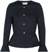 Paul & Joe Cotton-blend Peplum Jacket - Midnight blue