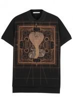 Givenchy Cobra-print Piqué Cotton Polo Shirt