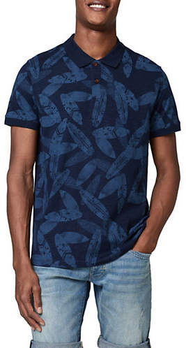 Scotch & Soda Printed Short-Sleeve Polo