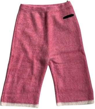 Sonia Rykiel Pink Wool Trousers