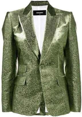 DSQUARED2 fitted metallic blazer