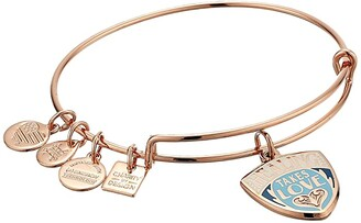 Alex and Ani Charity By Design, Healing Takes Love Charm Bangle (Shiny Rose) Bracelet