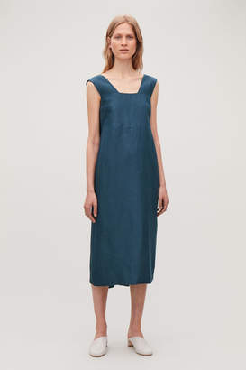 Cos LINEN-SILK DRESS WITH BACK TIES