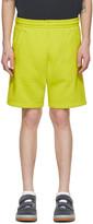 Acne Studios Yellow Fleece Shorts