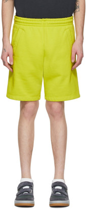 Acne Studios Yellow Fleece Shorts
