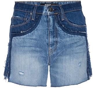 Hudson Double-Waistband Denim Shorts