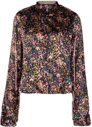 Y/Project Floral-Print Silk Shirt
