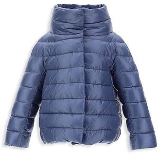 Herno Girl's Stand Collar Classic Nylon Ultralight Parka