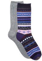 Gold Toe Women's 2-Pk. Ribbed & Multicolor Fair Isle Boot Socks