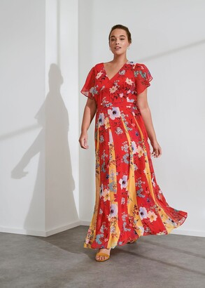 Phase Eight Valerie Contrast Floral Maxi Dress