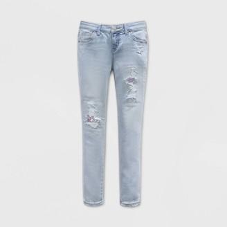 Cat & Jack Girls' Flip Sequin Distressed Skinny Jeans - Cat & JackͲ Light Wash