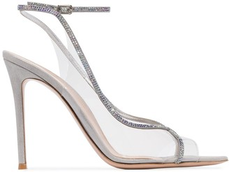 Gianvito Rossi Plexi 115mm crystal-embellished sandals