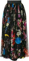 Dolce & Gabbana printed chiffon skirt