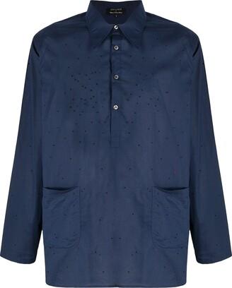 RAJESH PRATAP SINGH Embroidered Detail Asymmetric Hem Shirt