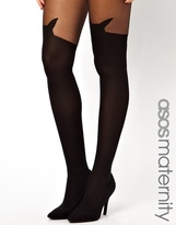 Asos Cat Suspender Tights With Supportive Band