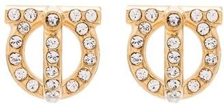 Salvatore Ferragamo Gancini gold-tone crystal earrings