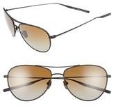 Salt Men's 'Pratt' 57Mm Polarized Sunglasses - Black Sand/ Brown