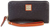 Dooney & Bourke Ostrich Collection Large Zip-Around Wristlet