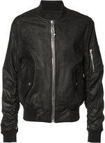 RtA chained zipper bomber jacket - men - Lamb Skin - S