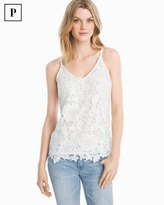 White House Black Market Petite Lace Cami