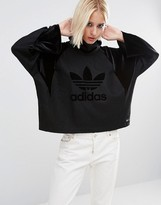 adidas High Neck Sweatshirt With Tonal Trefoil Logo