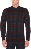 Perry Ellis Exploded Plaid Crew Sweater