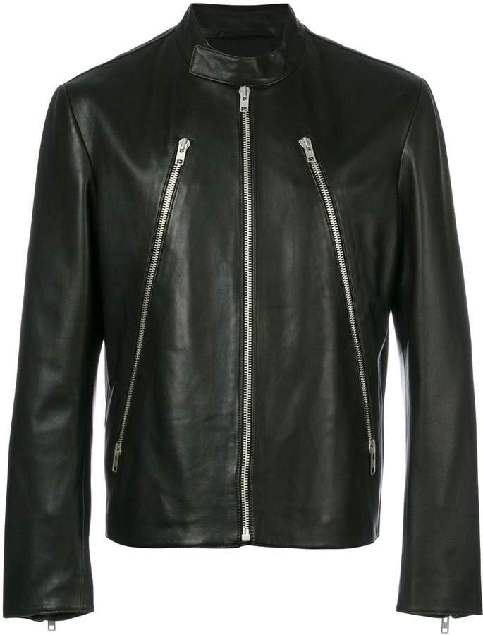 3fbbdb886 zip detail leather jacket