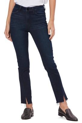 Paige Hoxton Slim Twist Seam Raw Hem Jeans