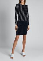 Balenciaga Print Knit Long-Sleeve Crewneck Sweater