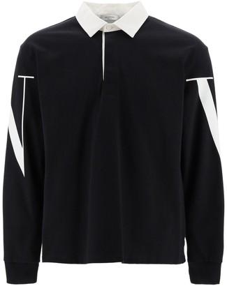 Valentino VLTN Printed Long Sleeve Polo Shirt
