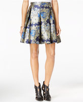 GUESS Annette Pleated Printed Skirt