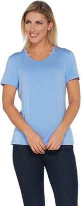 BROOKE SHIELDS Timeless Short Sleeve Scoop-Neck Knit T-Shirt
