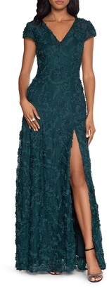 Xscape Evenings Raised Floral Gown
