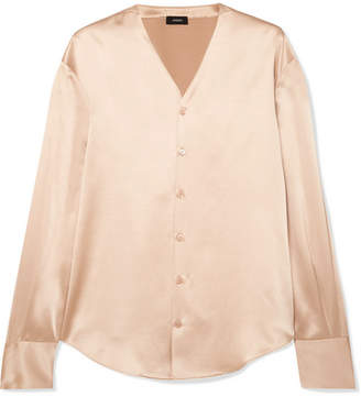 Joseph Silk-satin Blouse - Beige
