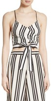 Alice + Olivia Women's Rayna Tie Front Crossover Crop Tank