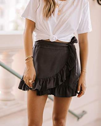 The Drop Women's Ruffle Wrap Micro Mini Skirt by @spreadfashion