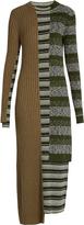 Maison Margiela Striped mixed-knit wool-blend dress