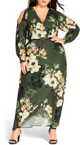 City Chic Long Sleeve Floral Maxi Dress