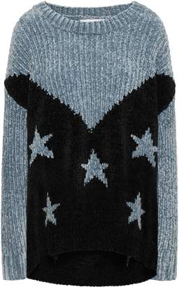 Wildfox Couture Two-tone Intarsia Chenille Sweater
