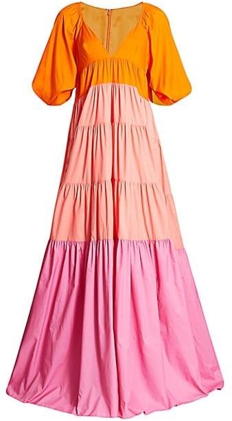 STAUD Meadow Colorblock Maxi Dress