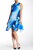 Julia Jordan Watercolor Drop Waist Dress