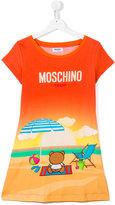 Moschino Kids - bear beach print T-shirt - kids - Cotton - 14 yrs