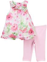 Little Me Big Rose Chiffon Tunic & Leggings Set (Baby Girls)
