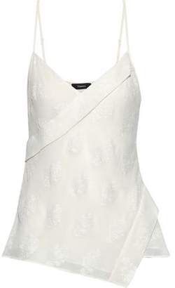 Theory Embroidered Silk-blend Chiffon Camisole