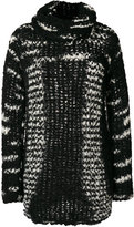 Missoni oversized intarsia jumper - women - Polyamide/Cashmere/Mohair/Wool - 38
