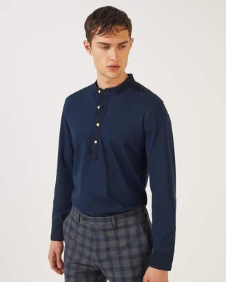 Jigsaw Garment Dye Henley Shirt