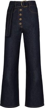 REJINA PYO Emily belted wide-leg jeans
