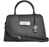 GUESS Kyra Crocodile-Embossed Satchel