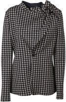 Armani Collezioni Checked Wrap Blazer