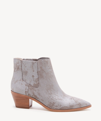 Sole Society Women's Lilianna Block Heels Gore Bootie Light Grey Size 5 Leather From